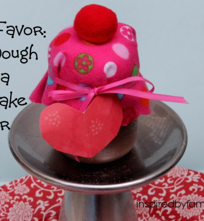 Party Favor: Play Dough in a Cupcake Jar