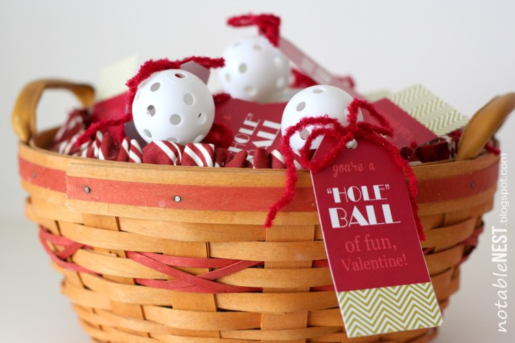 DIY Easy Valentine Cards: Golf Ball Valentines