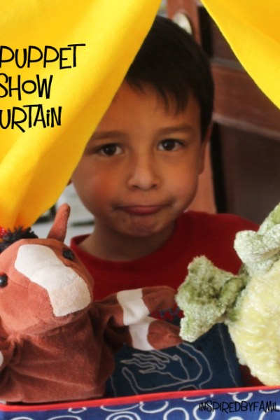 DIY Traveling Puppet Theater Curtain {Encouraging Imaginative Play}
