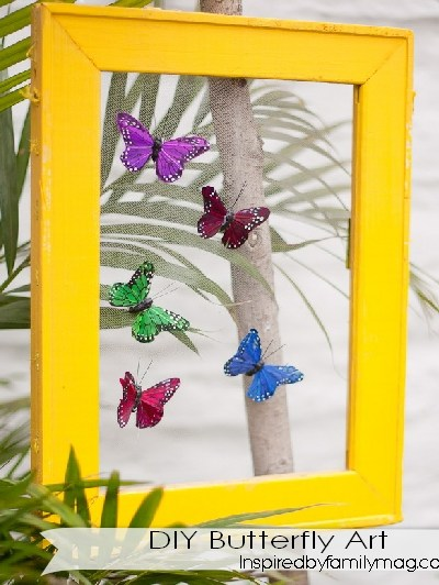 Easy DIY Home Decor Project: Butterfly Art