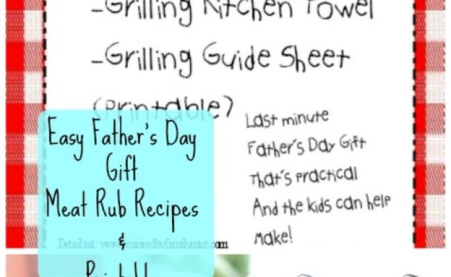 Diy Grilling Gift Set Meat Rub Recipes Printable