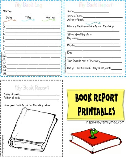 BOOK REPORT PRINTABLES