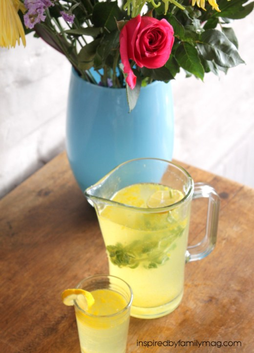 mint lemonade punch