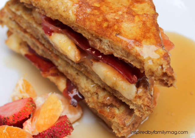 The Elvis Peanut Butter Banana Bacon French Toast Sandwich Inspired By Family