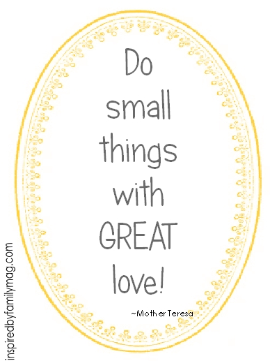 do small things with great love mother teresa