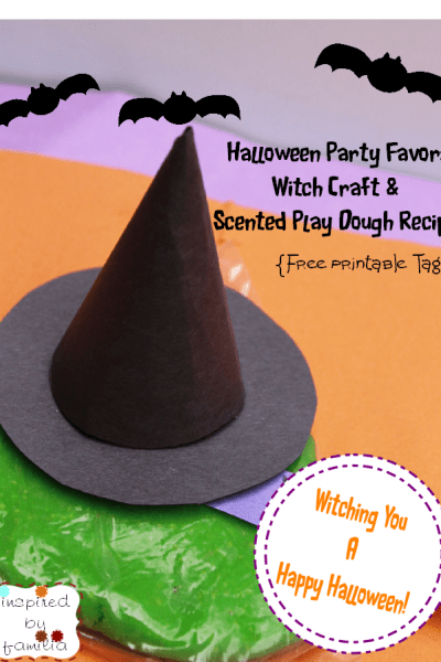 DIY Halloween Party Favor: Witch Hat Jello Play Dough Craft & Recipe