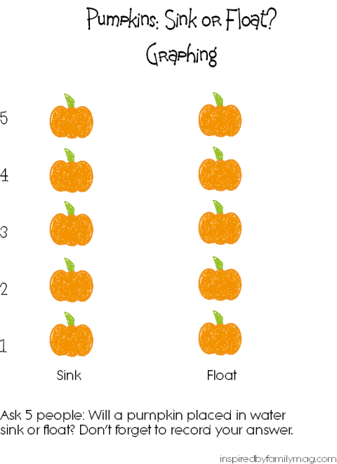 pumpkin graphing printable