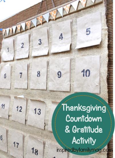 thanksgiving countdown & gratitude