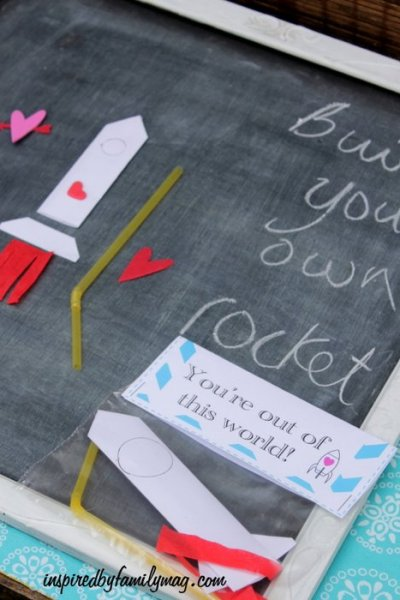 Build Your Own Paper Rocket Ship {Valentine's Day Craft}