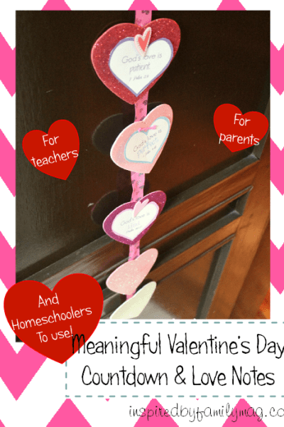 Meaningful Valentine's Day Countdown for Kids