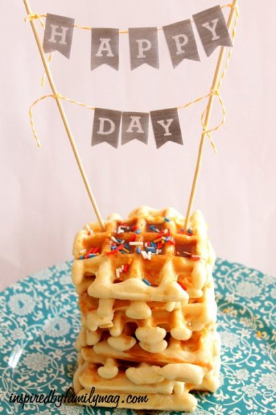 Simple Birthday Tradition: Waffle Birthday Cake