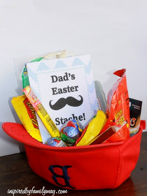 dad easter stache easter basket idea