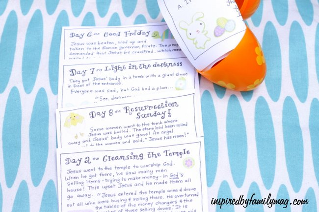 A Simple and Fun Easter Advent Scavenger Hunt for Kids