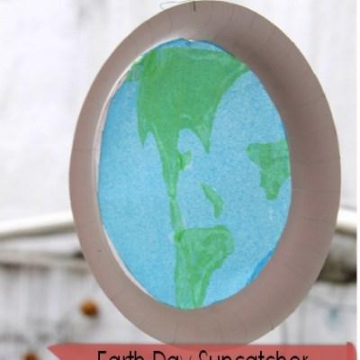 Earth Day Kids Activity: Earth Suncatcher