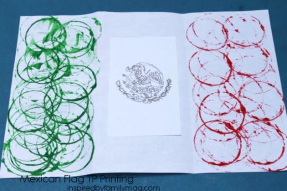 mexican flag art
