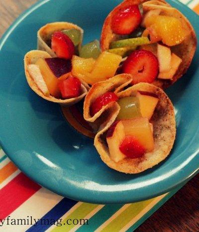 Easy Cinnamon Crisp Tortilla Bowls