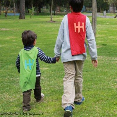 Hunger Hero Kids & No Sew Superhero T-Shirt Cape