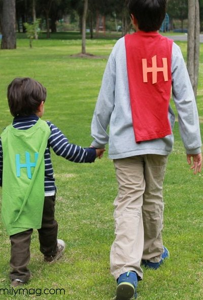 Hunger Hero Kids & No Sew Superhero T-Shirt Cape