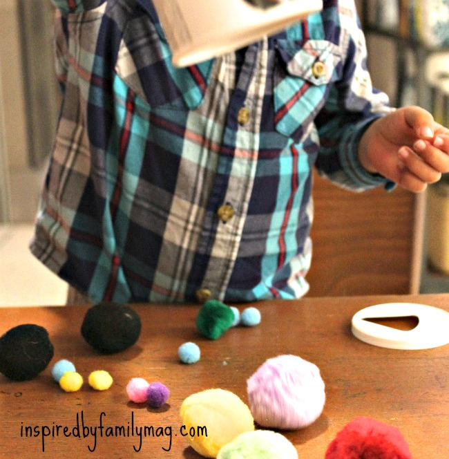 pom pom activities for kids 1