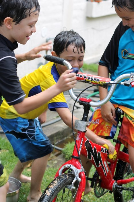 summer fun: bike wash