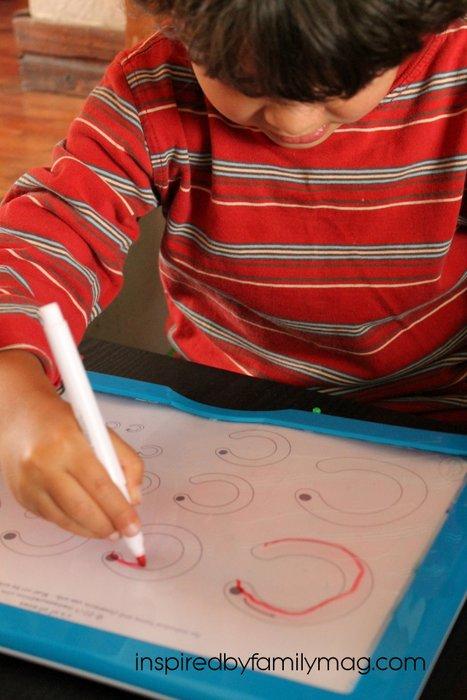 pencil grip practice