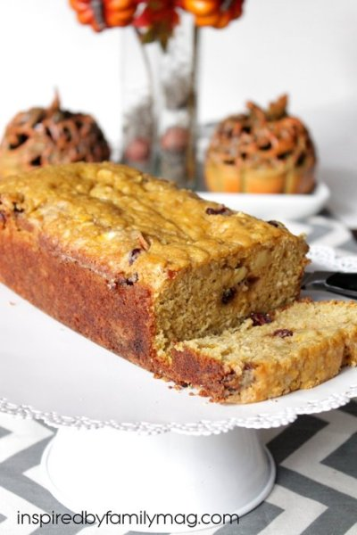 Cranberry Apple Pumpkin Bread