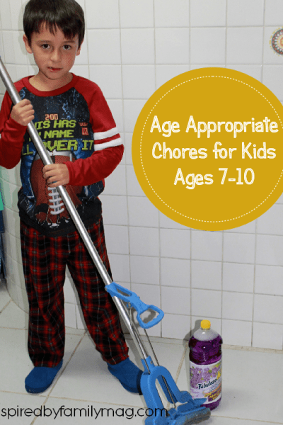 Age Appropriate Chores for Kids (clean floors & clean bathroom tips…)