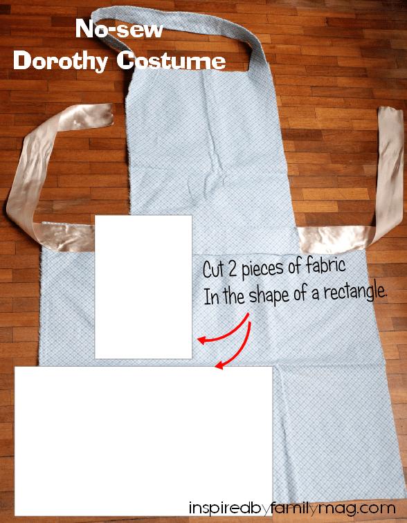 no sew dorothy costume