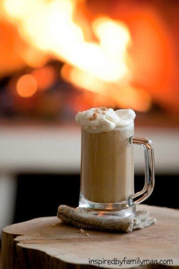 pumpkin toffee coffee au lait