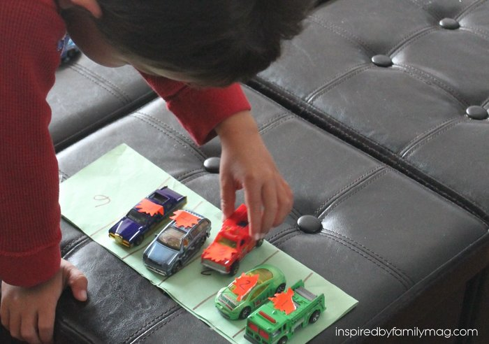 number recognition using cars