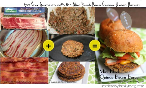 black bean quinoa bacon burger