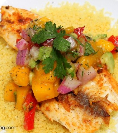 Grilled Tilapia with Mango Avocado Salsa