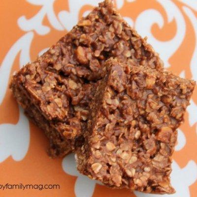 Chocolate Peanut Butter Bars Healthy & Gluten Free