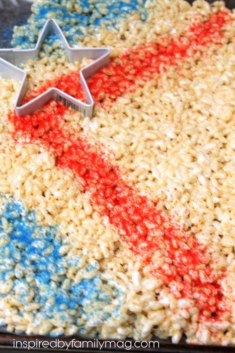 july 4th rice krispies
