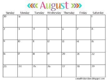 blank calendar 3