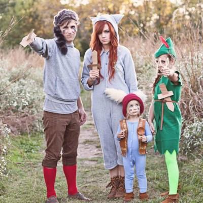 Simple DIY Family Halloween Costumes