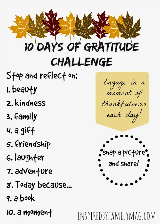 10 days of gratitude