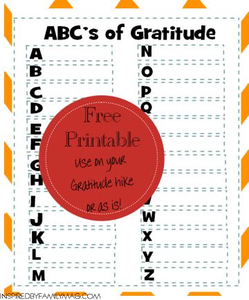 abc's of gratitude