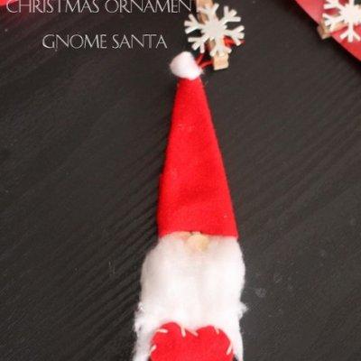 Craft Sticks Gnome Santa Ornament