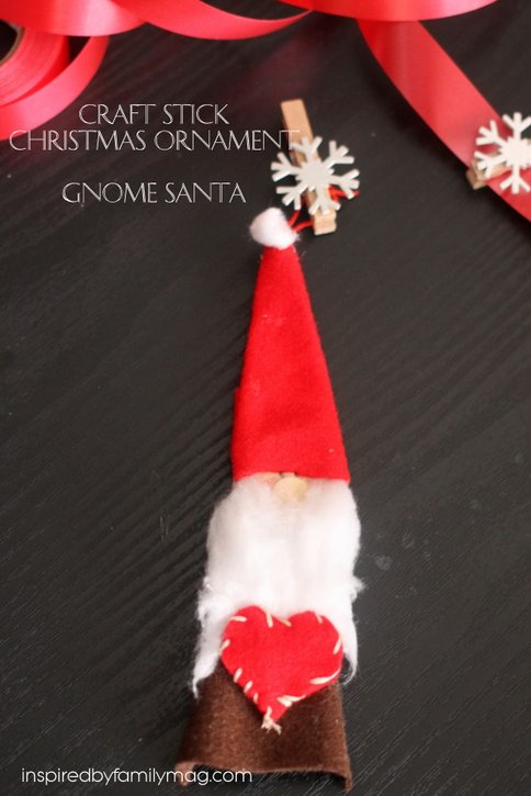 diy gnome ornament