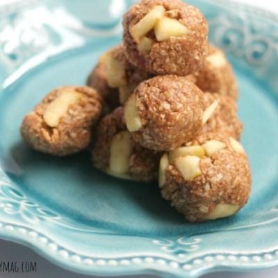Healthy Snack Apple Cinnamon Balls