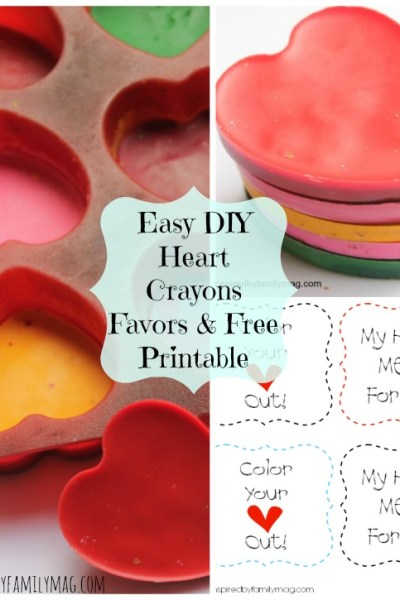 Valentines Day Craft-Easy DIY Heart Crayons