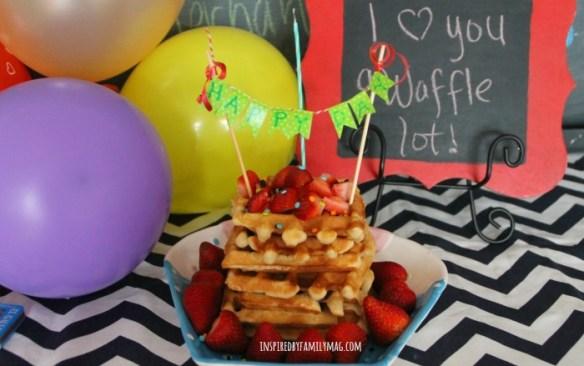 waffle birthday breakfast