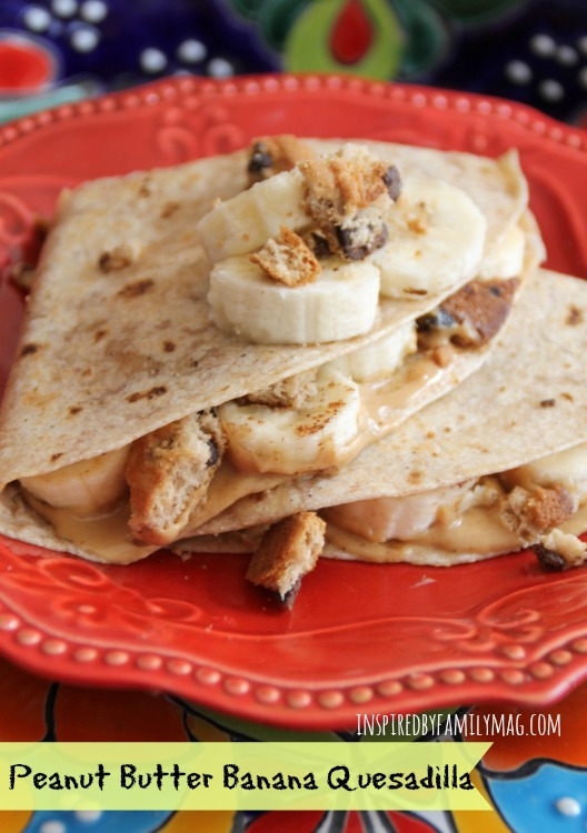 peanut butter quesadilla