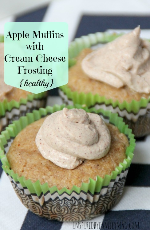 apple muffins cream cheese frosting