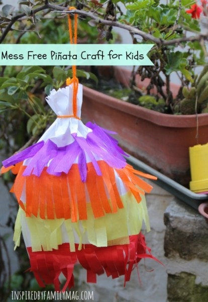 mess free Piñata craft