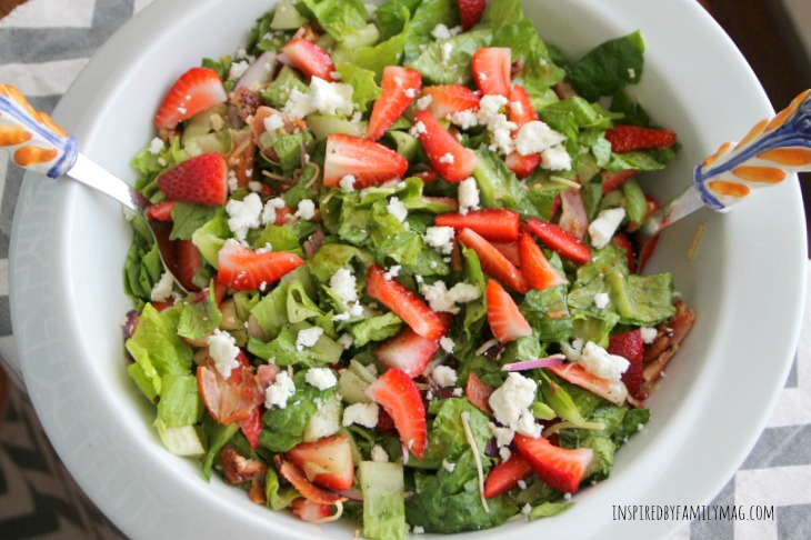 Strawberry Bacon & Pecan Salad