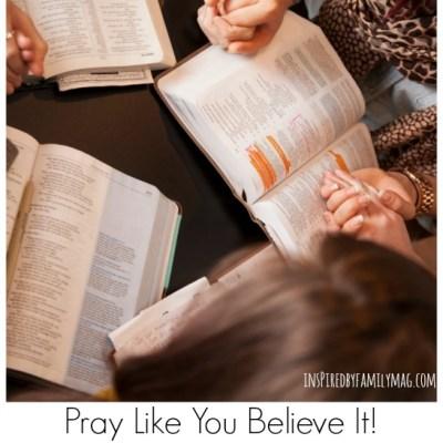 Pray Like You Believe It & November Praying Scripture Calendar