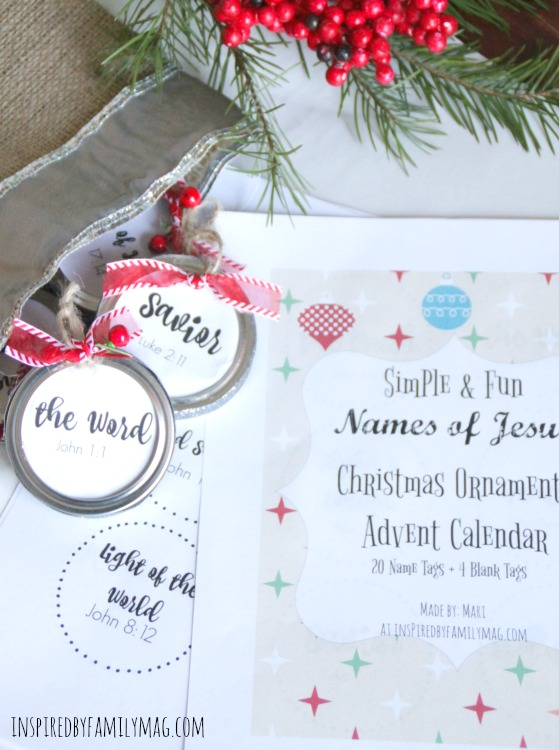 Jesus Christmas Decorations.Simple Fun Names Of Jesus Christmas Ornaments Advent Calendar