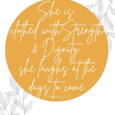Strong Women Laugh at the Days to Come